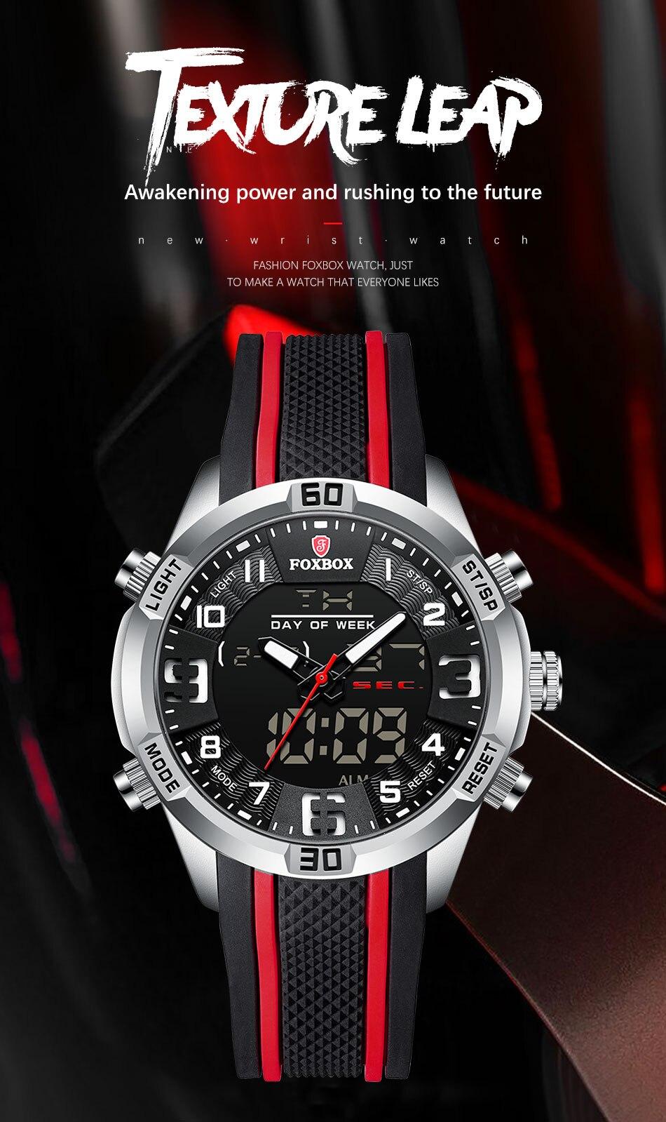 H9f0d3c4b93ec4908b17b6abf27f05ea8N Watch For Men FOXBOX Top Brand Luxury Dual Display