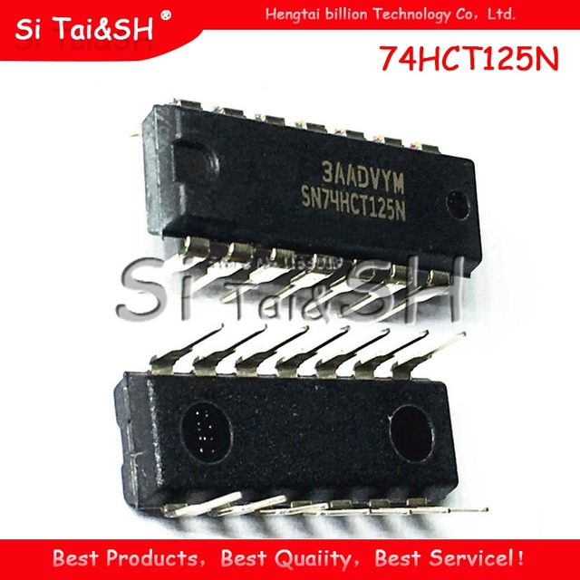 10pcs/lot 74HCT125N SN74HCT125N 74HCT125  DIP 14 goodquality