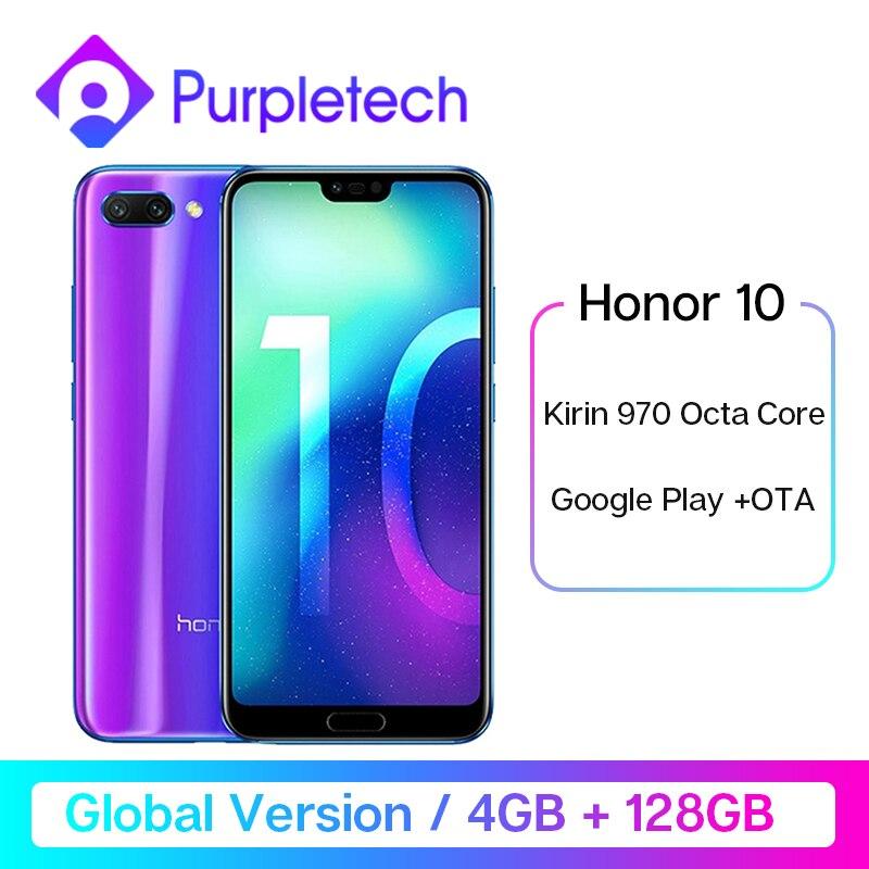 Global Version Honor 10 4GB 128GB Smartphone 5.84''24MP AI Camera Kirin 970 Octa Core NFC Android Google Play Fingerprint ID