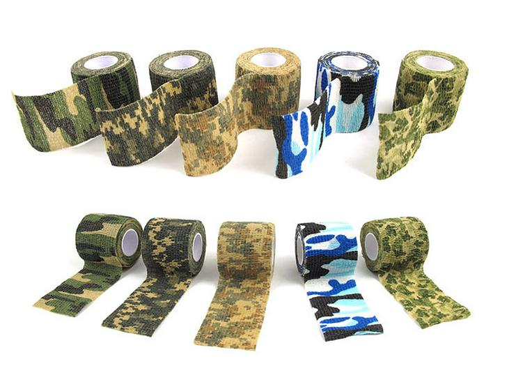 Camouflage Tape 4.5m*5cm Army Camo Outdoor Camo Camping Hunting Shooting Tool    Tape Durable Accessories Waterproof Wrap 2019