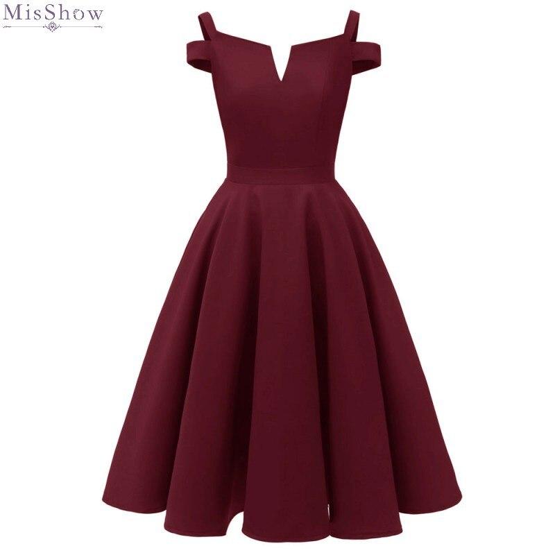 Burgundy Robe Cocktail Dresses 2019 Short Formal Party Dress A Line Elegant Coctail Dress Vestidos