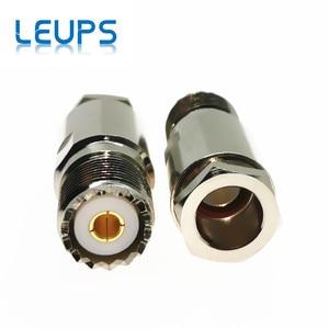 Image 3 - 10 sztuk żeńskie UHF SO239 Jack zacisk RG8 LMR400 RG213 RG214 RG165 kabel rf złącze