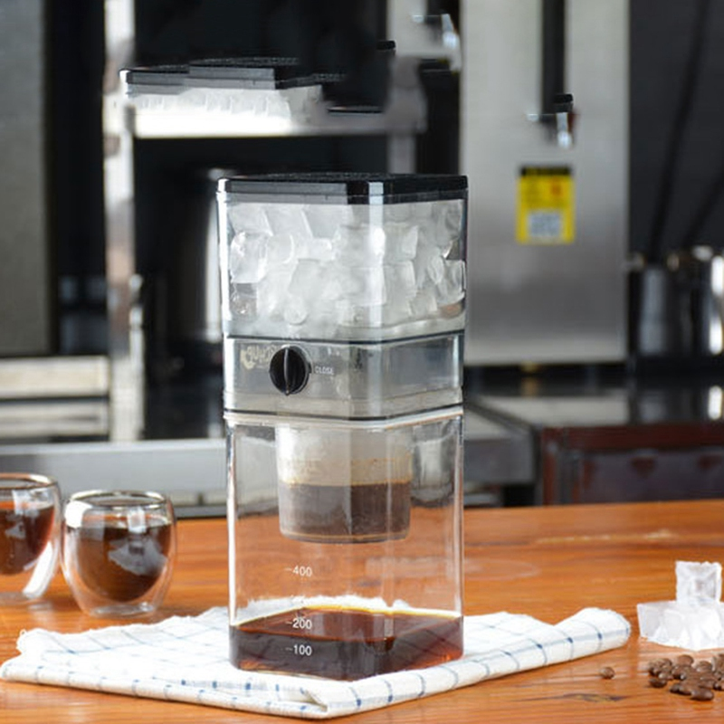 ABRA-Household Iced Coffee Pot Korean Style Glass Ice Coffee Machine Small Drip Type Cold Extraction Coffee Machine