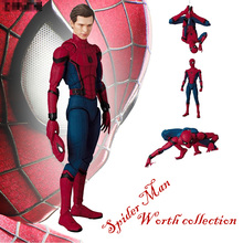 Hot 15 CM MAF047 Spider-Man Homecoming The Spiderman Tom Holland PVC Action Figure Collection Toy with Retail box spider man homecoming cosplay costume 3d printed spiderman homecoming spandex suit newest spiderman halloween bodysuit