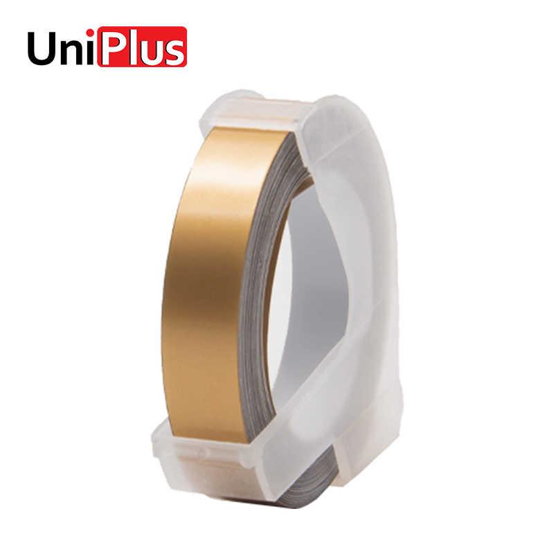 UniPlus แชมเปญทอง DYMO 3D สำหรับเทป 1540 1755 1880 12965 12966 เครื่องพิมพ์ DIY สติกเกอร์ป้าย maker