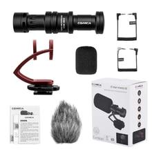 최고의 거래 COMICA CVM VM10II 비디오 녹화 마이크 카메라/전화 마이크로 전화 캐논 니콘 소니 DSLR 캠코더 아이폰 샘