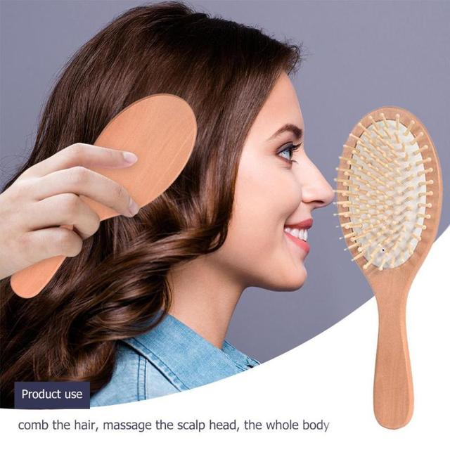 Wood Comb Extremely Elastic Soft Air Sac Orifice Professional Healthy Paddle Cushion Massage Hairbrush Scalp Hair Care 2