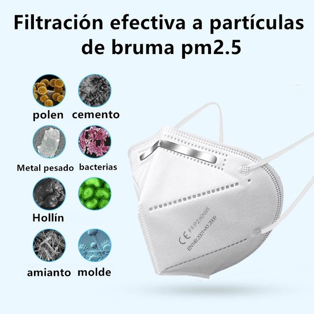 10-200 piece  FFP2 mouth mask  KN95 dust masks protect maske face mask Anti PM2.5 masks Filter Safety mascarillas mascherina 4