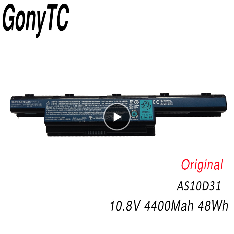 GONYTC AS10D31 노트북 배터리 Aspire V3 5741 5742 5750 5551G 5560G 5741G 5750G AS10D51 AS10D61 AS10D71 image