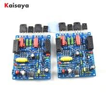 2 ADET 2 kanal QUAD405 100W + 100w Ses güç amplifikatörü Kurulu DIY KITI Montajlı kurulu