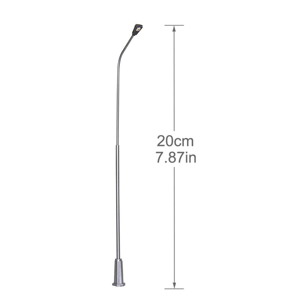 5pcs Model Railway Lamppost 1:50 Street Lights O Scale LEDs 20cm LNH20