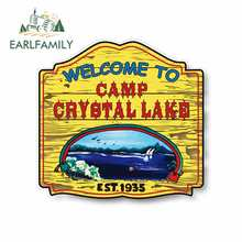 Earlfamily 13Cm X 12.5Cm Voor Kamp Crystal Lake Vinyl Decal Sticker Auto Vrachtwagen Pinup Krasbestendig Sticker geschikt Voor Van Rv
