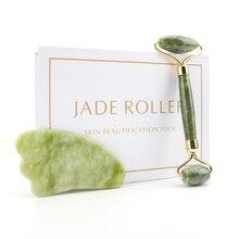 Scraper Jade-Roller Massage-Board Guasha-Kit Gua Sha Natural-Stone And