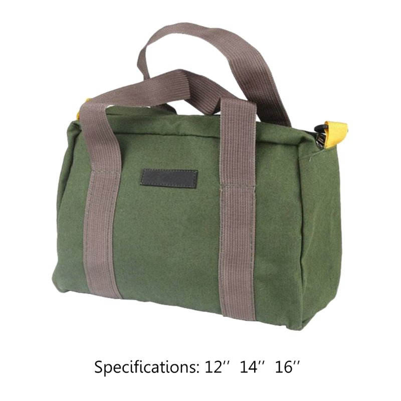 Multifunction Canvas Hand Tool Storage Bag Waterproof Hardware Parts Organizer Pouch For Screwdrivers Pliers Tool Bag 72XD