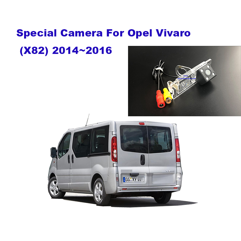 Yessun Rear Camera Car Rear View Camera HD Night Vision Reverse Camera IP67 DC 12V For Opel Vivaro X82 2014~2016