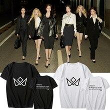 Loose Top GFRIEND T-Shirt Short-Sleeve Night-Support KPOP Album Summer Tee-Fan Collection