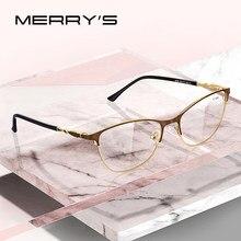 MERRYS-gafas de lectura con bloqueo de luz azul para mujer, lentes de resina CR-39, gafas asféricas + 1,00 + 1,50 + 2,00 S2108FLH