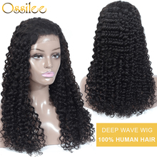 Deep Wave Wig Pre Plucked Full Lace Human Hair
