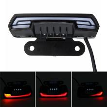 General Motorcycle Scooter Light Tail Rear Brake Stop Waterproof Double Flash Warning Dynamic Turn Signal License Plate Light