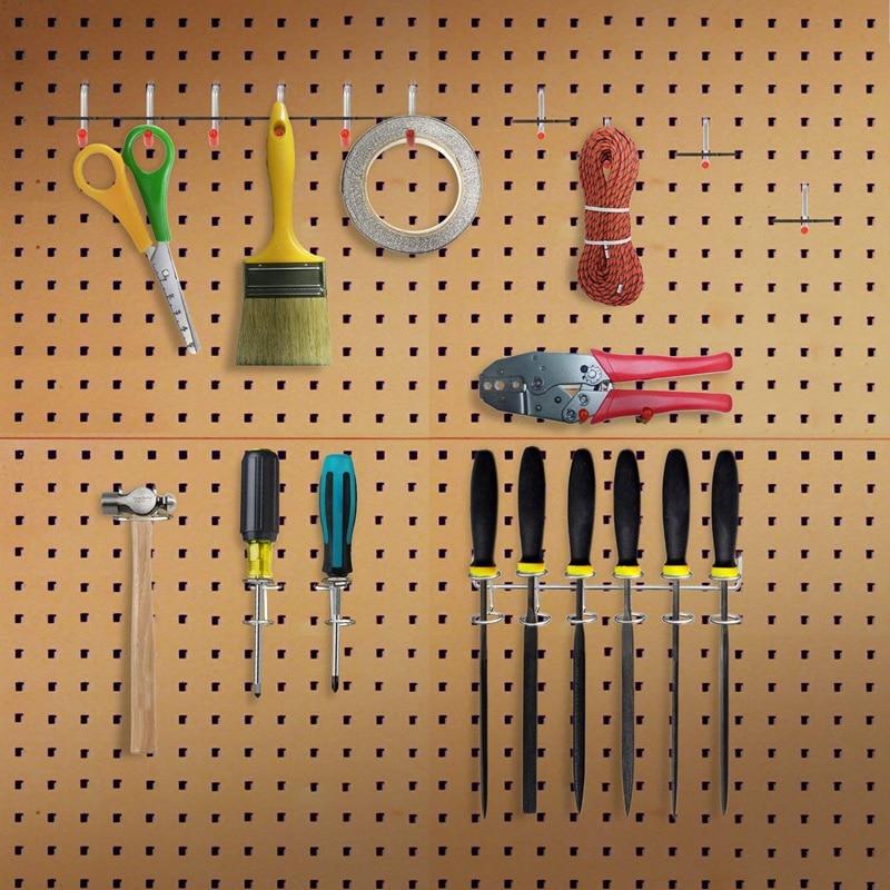 52Pcs Pegboard Hooks Assortment Home Storage Hooks System Peg Board Tool Hanger Set Garage Kitchen Workshop Organizer Utility Ho