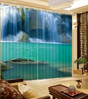 3D curtains For the living room Bedroom home decor curtains Waterfall water window roller curtain