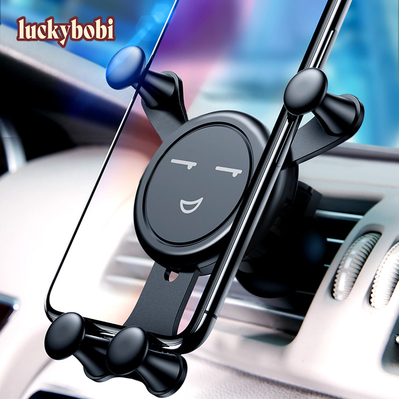 Gravity Car Phone Holder For Phone In Car Air Vent Clip Mount No Magnetic Mobile Phone Holder GPS Stand For IPhone XS MAX Xiaomi