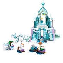 Girl friend Snow World Series The Elsa`s Magical Ice Castle Set girls Building Blocks Bricks Toys