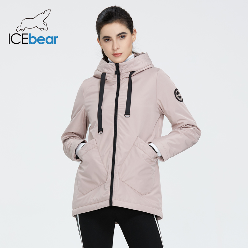 ICEbear 2020 Woman Spring Jacket Quality Women Coat Fashion Female Apparel Women's' Clothes With Hood GWC20038I