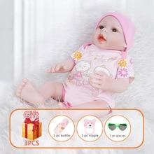 цены 20 Inch Newborn Reborn Baby Dolls Realistic Full Body Soft Silicone Lifelike Dolls Handmade Toddlers Toys For Children Gifts