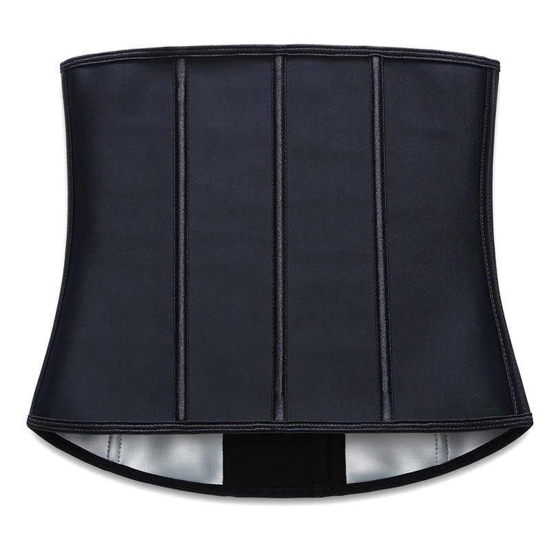Latex Waist Trainer Body Shaper Corset Shapewear Women Thermo Belt Sauna Sweat Fajas 9 Steel Bone Modeling Strap Slimming Girdle
