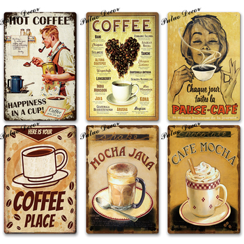 Coffee-Tin-Sign-Vintage-Metal-Sign-Plaque-Metal-Vintage-Wall-Decor-for-Kitchen-Coffee-Bar-Cafe