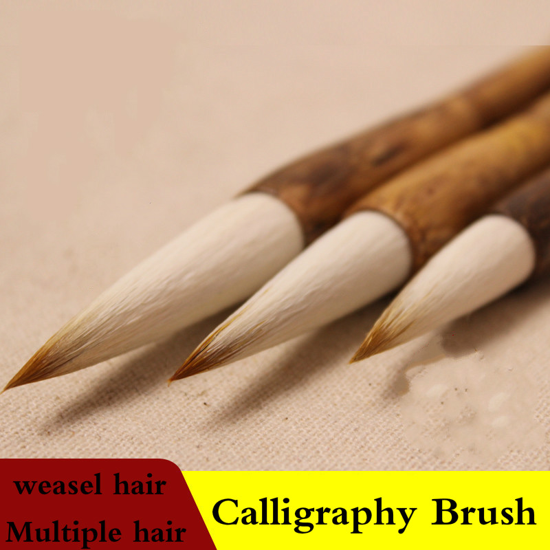 Calligraphy Brush Chinese Wolf &woolen Hair Brush Pen for Chinese Painting Calligraphy Multiple Hair Tinta China Caligrafia