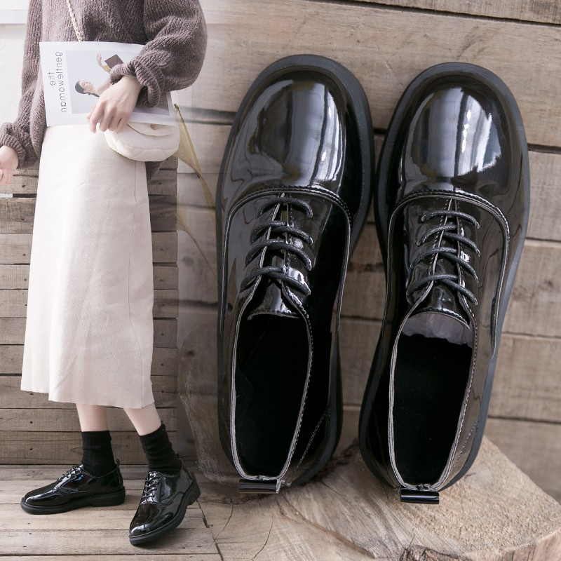 Oxfords Flats Woman Loafers Shoes Oxford Femme New Patent Matt Leather Shoes Woman Casual Womens Flats Female Shoe DropshippingWomens Flats   -