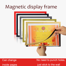 Frame Picture-Decoration Pvc-Poster-Frame Magnetic-Display Self-Adhesive Paper A4 2PCS