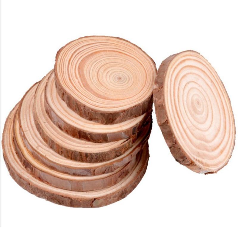 3-16 см толстые круглые деревянные ломтики из натуральной сосны необработанные круги с корой дерева деревянные диски «сделай сам» ремесла ро...