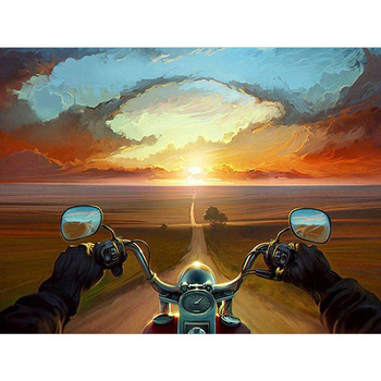 DIY Painting By Numbers Riding a motorcycle Cartoon Kit Oil Picture By Numbers Wall Art Paintings On Canvas Home Decoration Gift wonzom beach flower oil painting by numbers diy abstract digital picture coloring by numbers on canvas unique gift for home 2017