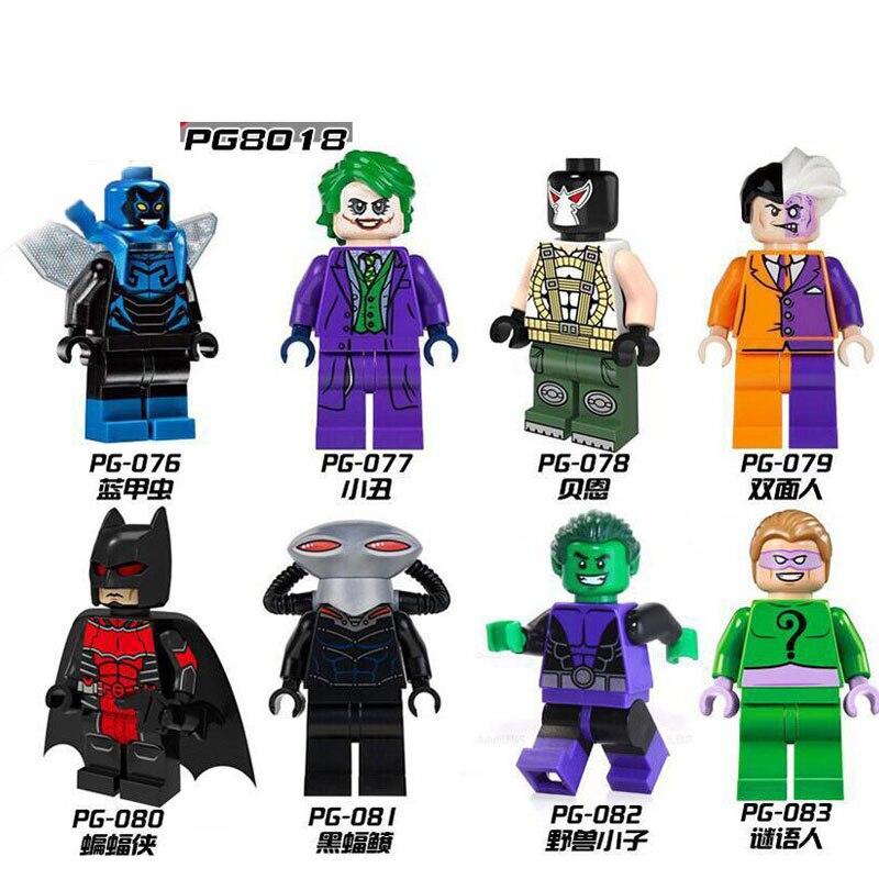 PG8018 Single Sale Building Blocks Super Heroes Blue Beetle Joker Bane Black Manta Beast Boy Riddler Bricks Toys For Children