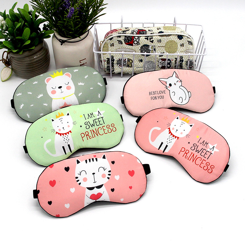 Cotton Cartoon Eyepatch Sleeping Mask Cute Funny Anime Sleep Mask Eye Cover Travel Relax Eye Band Sleeping Aid Kids Blindfolds