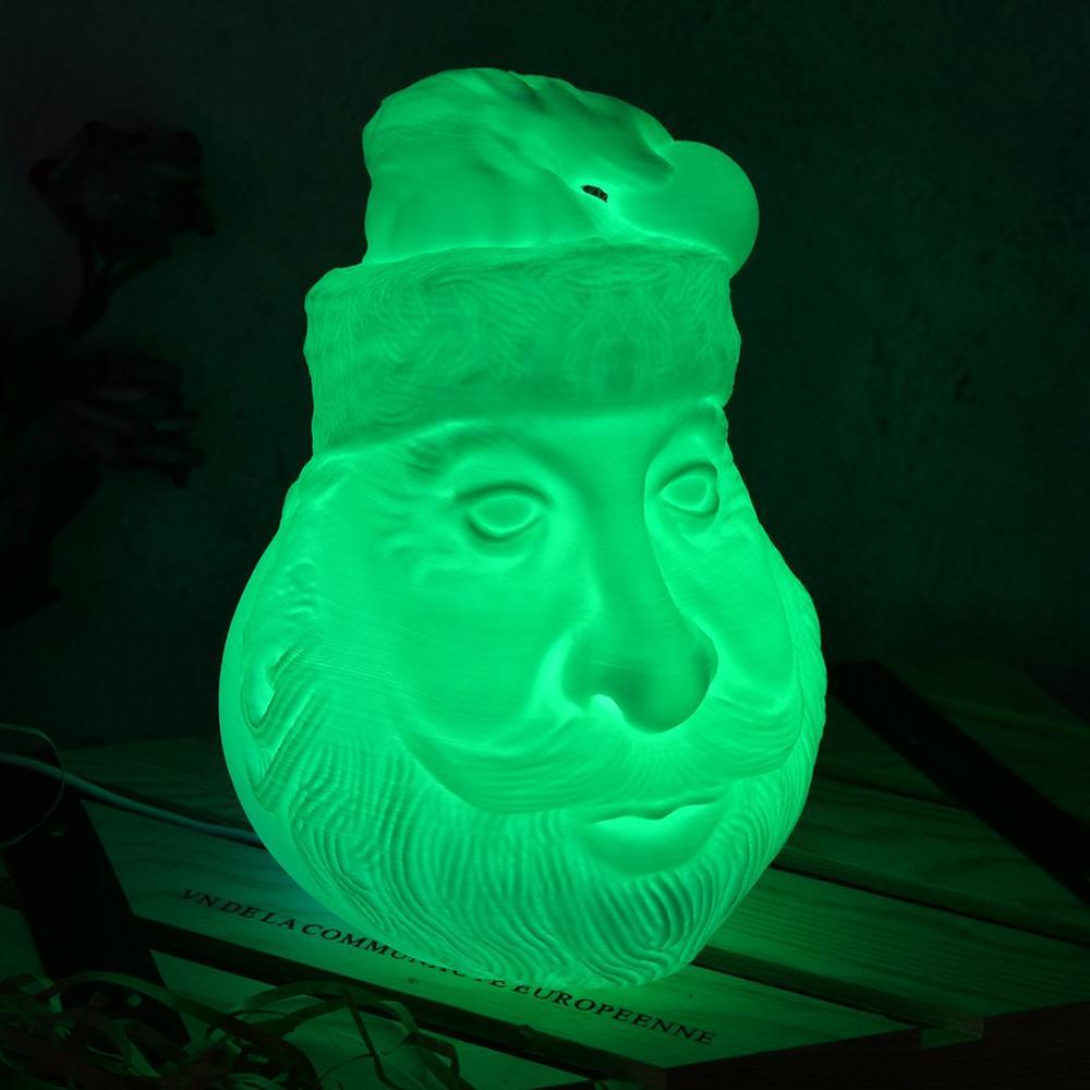 Exquisite Printing Moon Light Christmas Santa Claus Avatar 3d Print Moon Light Strange Table Lamp Night Light