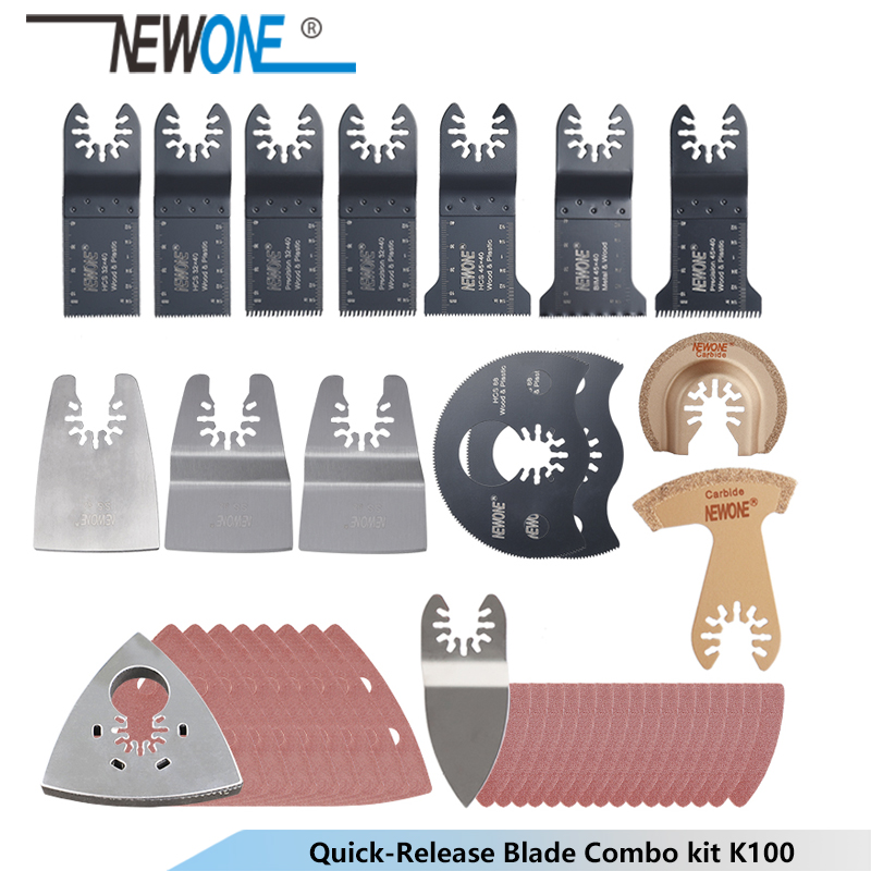 NEWONE K66/K100 Quick-release HCS/Japan-tooth/Bi-metal Oscillating Tool Multi-function Tool Saw Blades Renovator Trimmer Blades