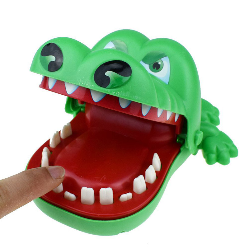 L Size Biting Crocodile Dentist Lucky Monster Joke Gadgets Party Travel Game For Kids Children Adult Family Halloween Toy Game