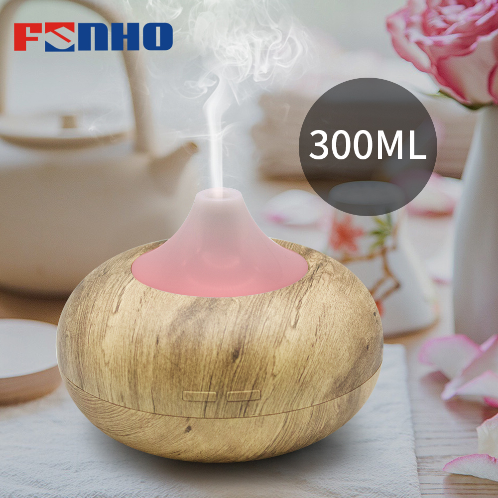 FUNHO 400ml USB Air Humidifier Essential Oil Aroma Diffuser Lamp Aromatherapy Electric  Mist Maker For Home Office LED Light