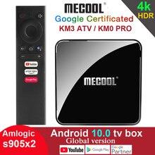 Google Certified 4GB 64G 32GB 2G 16G Amlogic S905X2 5G 2.4G Wifi 4K Youtube Android 10 TV Box MECOOL KM9 PRO KM3 ATV