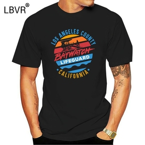 Baywatch Los Angeles ilçe cankurtaran MenS T gömlek California gün batımı kulesi en klasik özel tasarım Tee gömlek