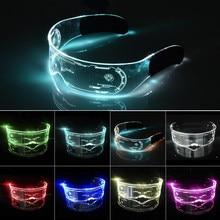 Óculos luminosos coloridos led óculos el fio neon party light up óculos rave traje festa decoração dj óculos de sol dia das bruxas