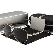 De lujo gafas de sol polarizadas de los homens uv400 de alta calidad gafas de aviador retro de pesca