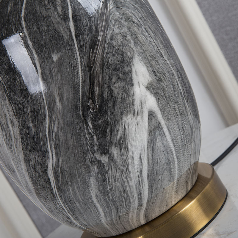 US $139.86 20% OFF American Ceramics Table Lamp Home Decor Table Light Bedroom Bedside Study Hotel Living Room Hotel Design Fabric Desk Lamp Shade LED