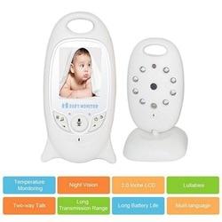 Monitor de bebé de vídeo inalámbrico cámara de seguridad de Color de 2,0 pulgadas 2 vías de conversación IR control de temperatura LED con 8 Lullaby