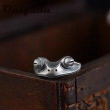 Livre shippingfrog acoplamento aço inoxidável retro personalidade criativa animal unissex vermelho garnet fino casamento & amor bijoux presente