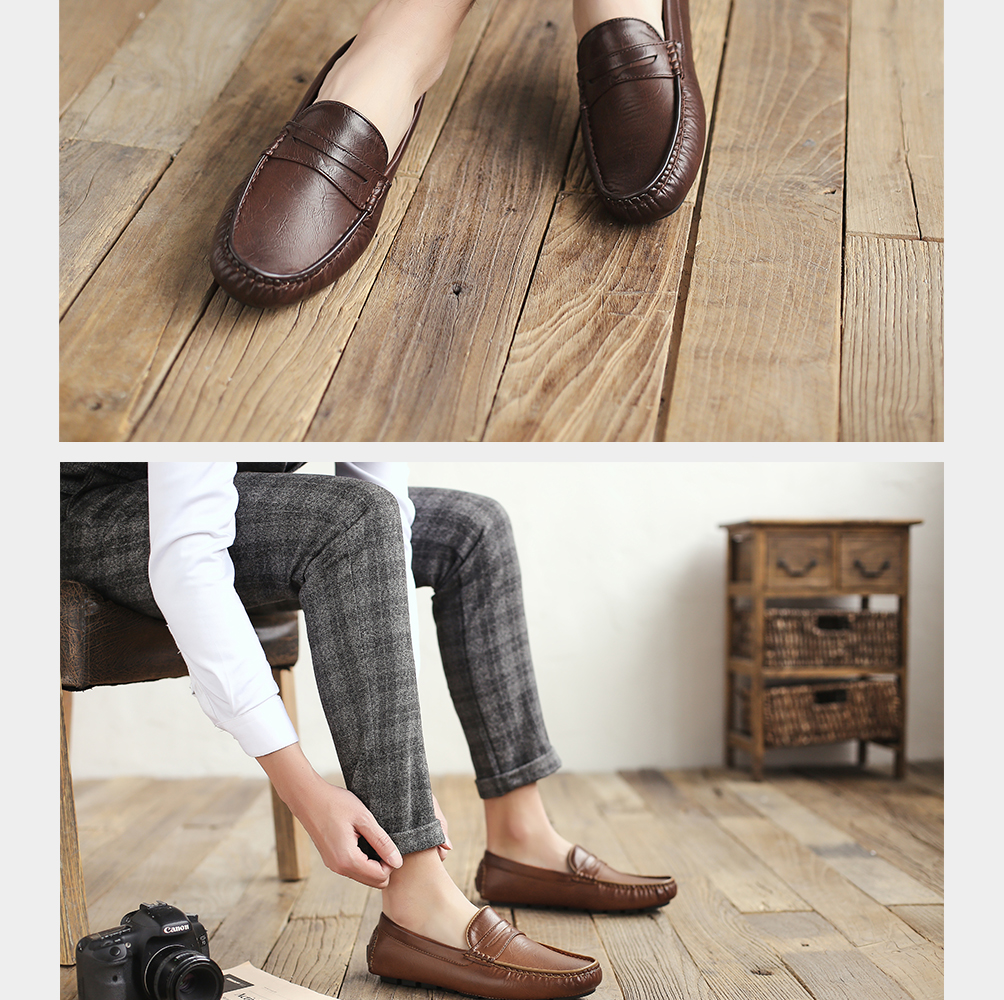 H9f1023df6644401c8a22ec9342746887w Men's Casual Shoes Men Moccasins Autumn Fashion Driving Boat Shoes Male Leather Brand Slip-On Classic Men's shoes Loafers